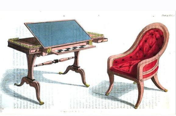 Table à dessin de la Dame - JaneAusten.co.uk