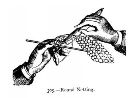 Netting Instructions from Beeton's Book of Needlework - JaneAusten.co.uk