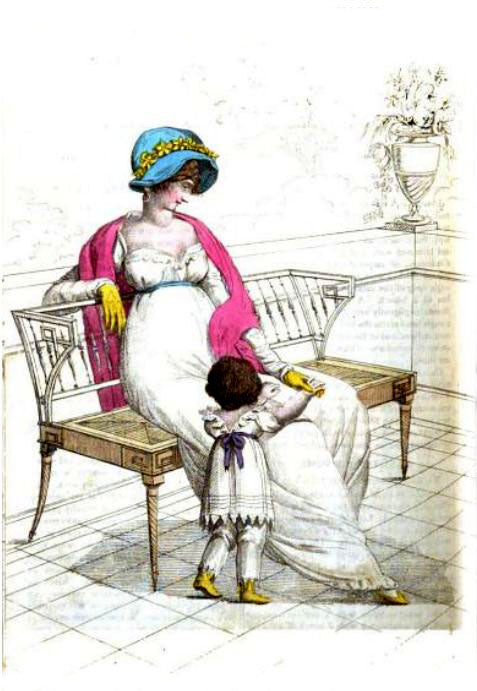 Fashions for October 1807 from La Belle Assemblee