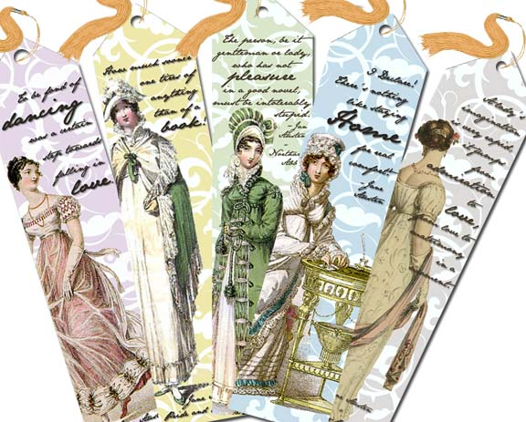 Make Jane Austen Themed Bookmarks