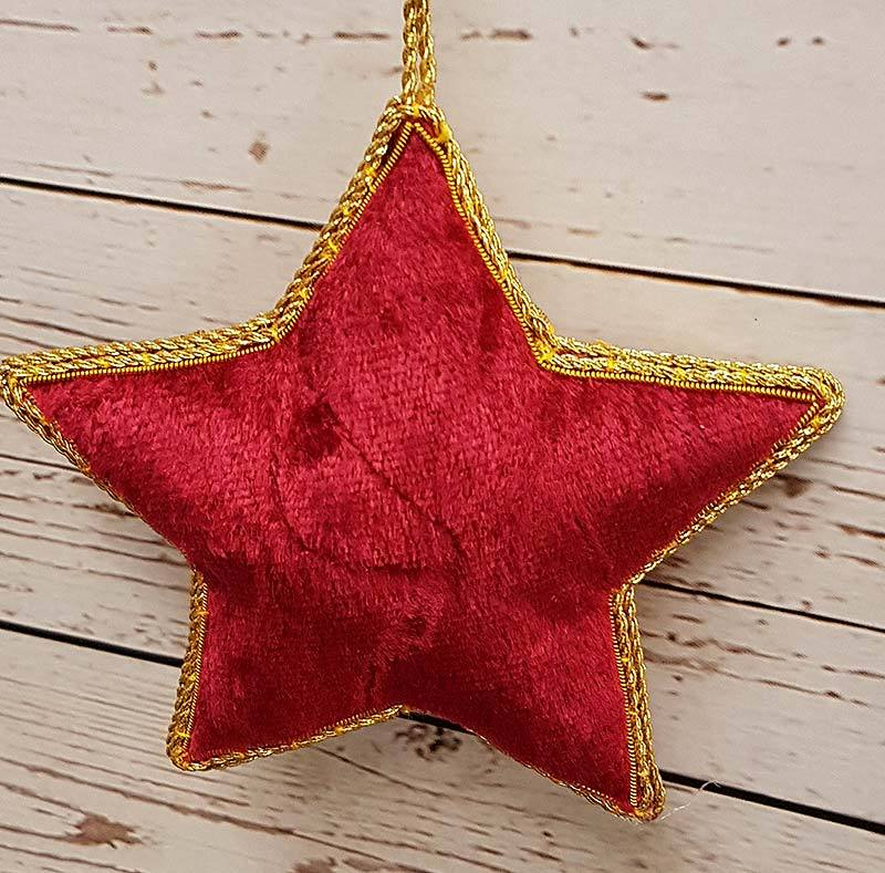 Christmas Star - Traditional Tree Decoration - Handmade - Jane Austen Online