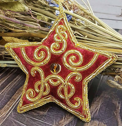 Christmas Star - Traditional Tree Decoration - Handmade - JaneAusten.co.uk