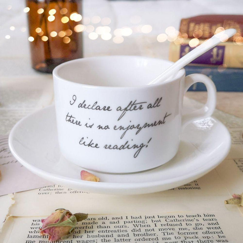 Jane Austen Teacup, Saucer and Spoon - JaneAusten.co.uk