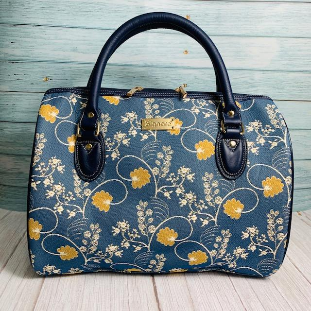 Jane Austen Blue Oak Travel Bag - Jane Austen Online