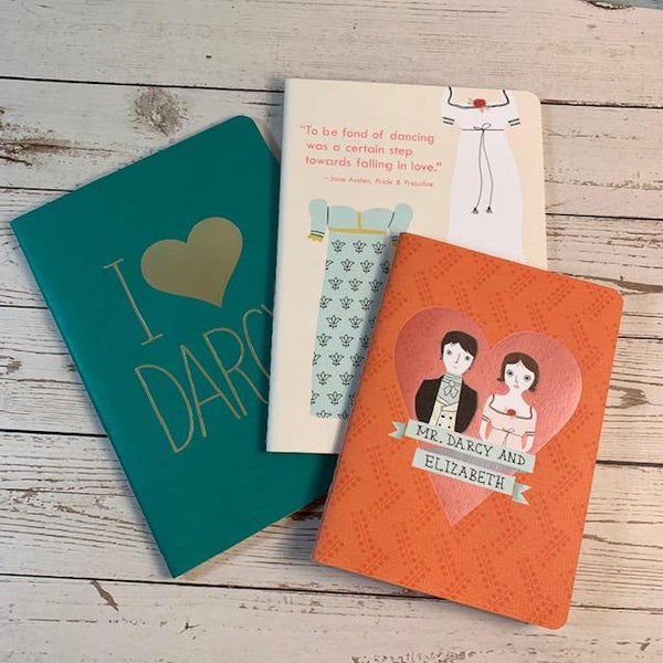 Set of 3 Pride & Prejudice Notebooks - JaneAusten.co.uk