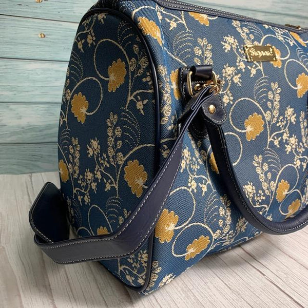 Jane Austen Blue Oak Travel Bag - JaneAusten.co.uk