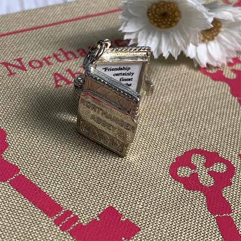Northanger Abbey Silver Book Charm Pendant - JaneAusten.co.uk