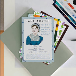 Literaturautor Postkarten - 12er Pack - JaneAusten.co.uk