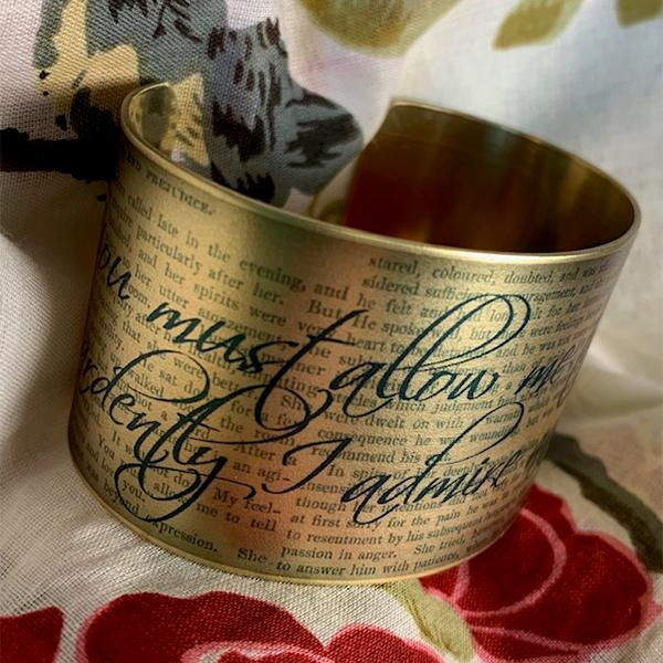 Jane Austen Cuff Bracelet - Mr Darcy's Proposal - JaneAusten.co.uk