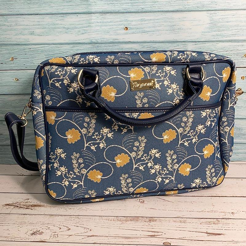 Jane Austen Blue Oak Laptop Bag - JaneAusten.co.uk