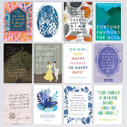 Classic Book Quote Postcards - Pack of 12 - Jane Austen Online