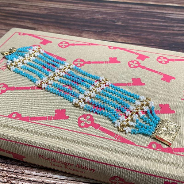 Exclusive Jane Austen Replica Bracelet - Hand-threaded Glass Beads and Gold-Plated Silver - Jane Austen Online