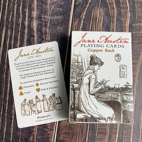 Cartes à jouer de luxe Jane Austen - JaneAusten.co.uk