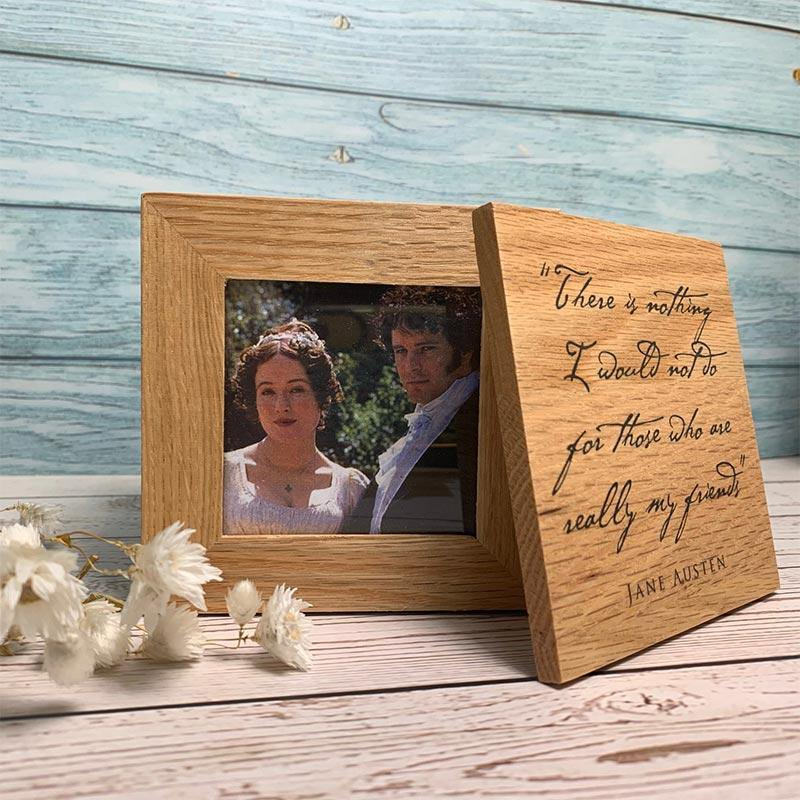 Jane Austen Friendship Quote Photo Cube