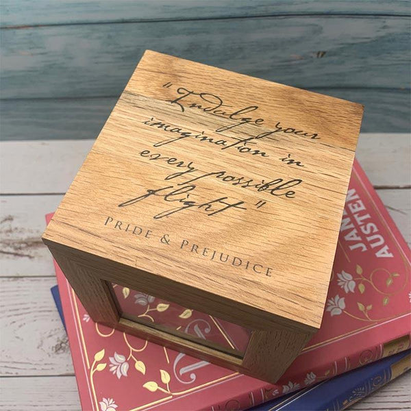 Jane Austen Imagination Quote Photo Cube