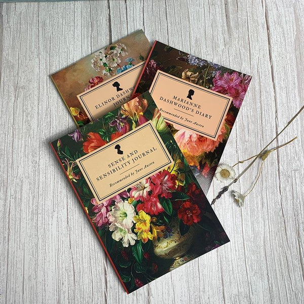 Set of 3 Sense and Sensibility Notebooks - JaneAusten.co.uk