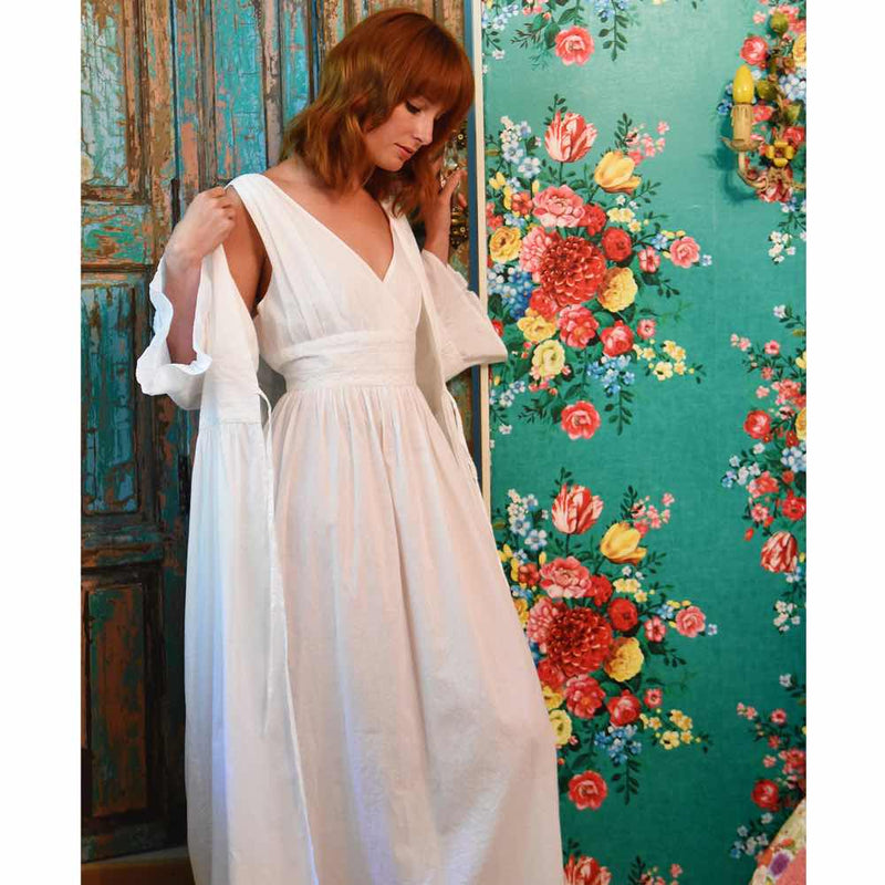 Хлопок Regency Nightdress - Элинор - JaneAusten.co.uk