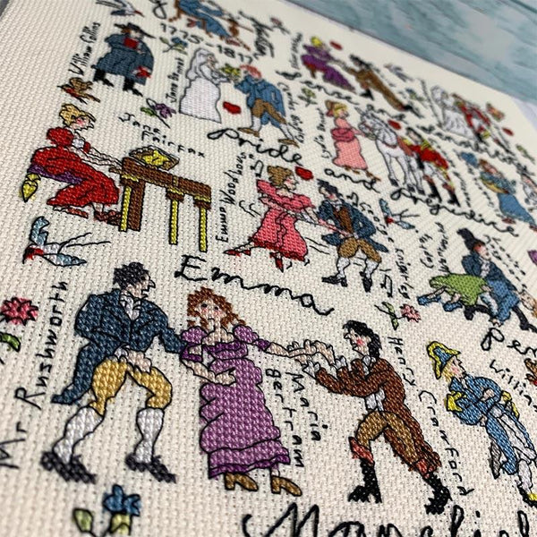 Jane Austen gezählt Cross Stitch Kit - JaneAusten.co.uk