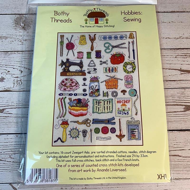 Hobby themed Counted Cross Stitch Kit - JaneAusten.co.uk