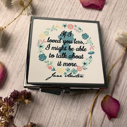 Jane Austen 'Mr Knightley' Quote Compact Mirror