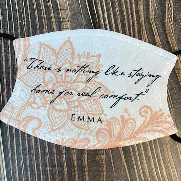 Jane Austen's Emma Quote Face Mask - JaneAusten.co.uk