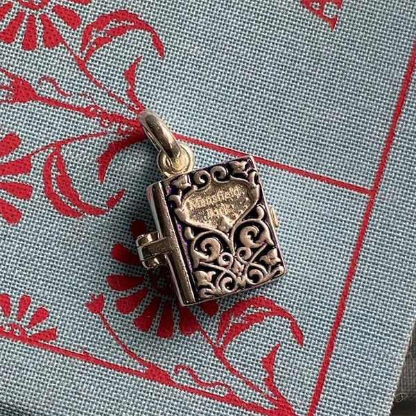 Sterling Silver and Enamel Mansfield Park Book Charm - JaneAusten.co.uk