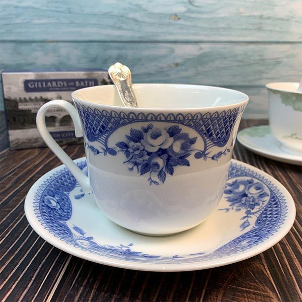 Extra Large Netherfield Teacup and Saucer - JaneAusten.co.uk
