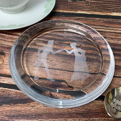 Jane Austen Mr Darcy & Elizabeth Bennet Glass Coaster