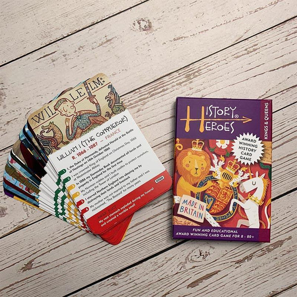History Heroes - Jeu de cartes Kings & Queens in History - JaneAusten.co.uk