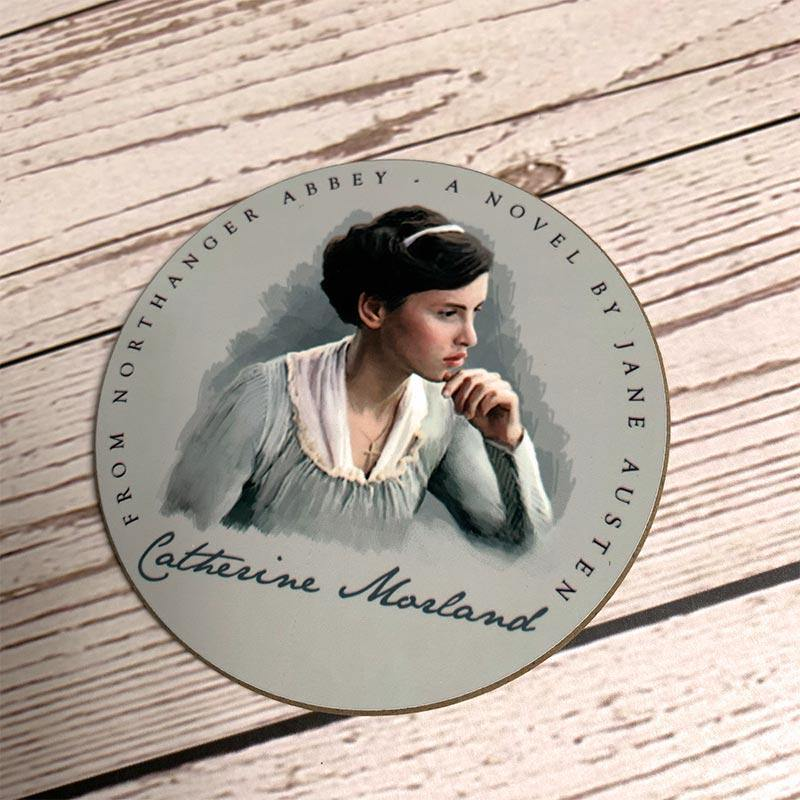 Set of 6 Jane Austen's Heroines Coasters - JaneAusten.co.uk