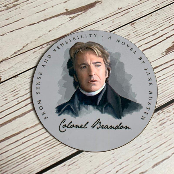 Set mit 6 Jane Austens Heroes Coasters - JaneAusten.co.uk