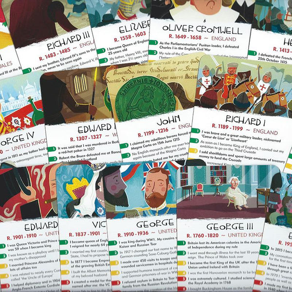 History Heroes - Kings & Queens in History Card Game - JaneAusten.co.uk