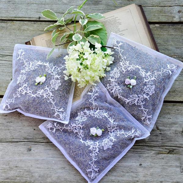 Embroidered Voile Lavender Sachet - Set of 2 - JaneAusten.co.uk