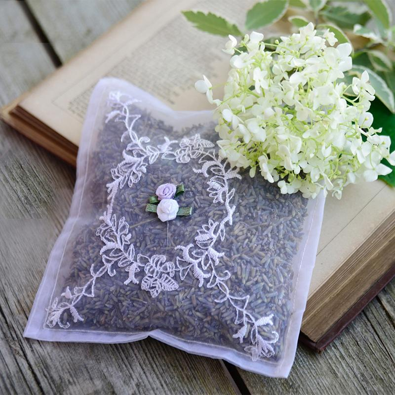 Lavender Voile Embroidered Sachet - Set of 2