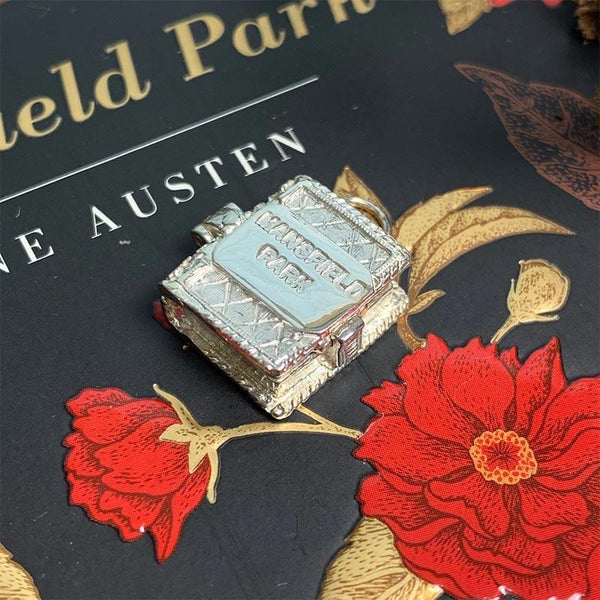 Mansfield Park Silver Book Charm Pendant - JaneAusten.co.uk
