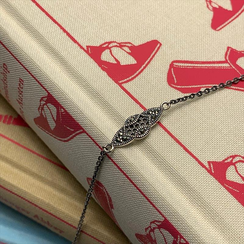 Elinor Marcasite and Silver Long Necklace - Jane Austen Online