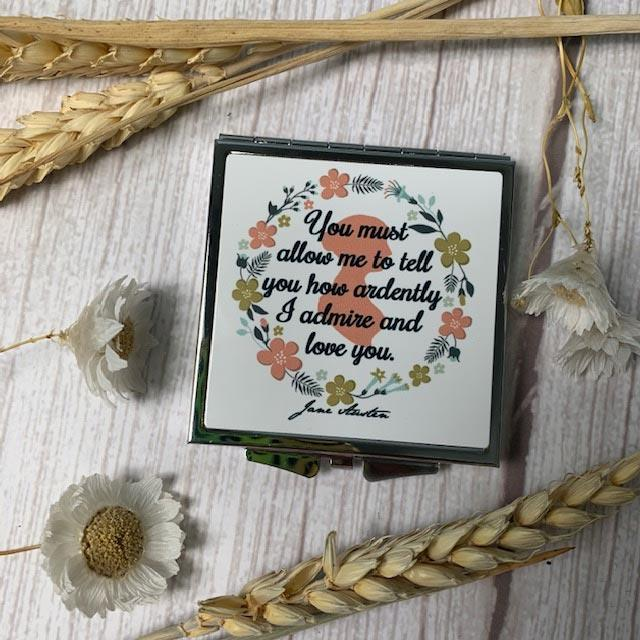 Darcy's Proposal Compact Pride and Prejudice Mirror - JaneAusten.co.uk