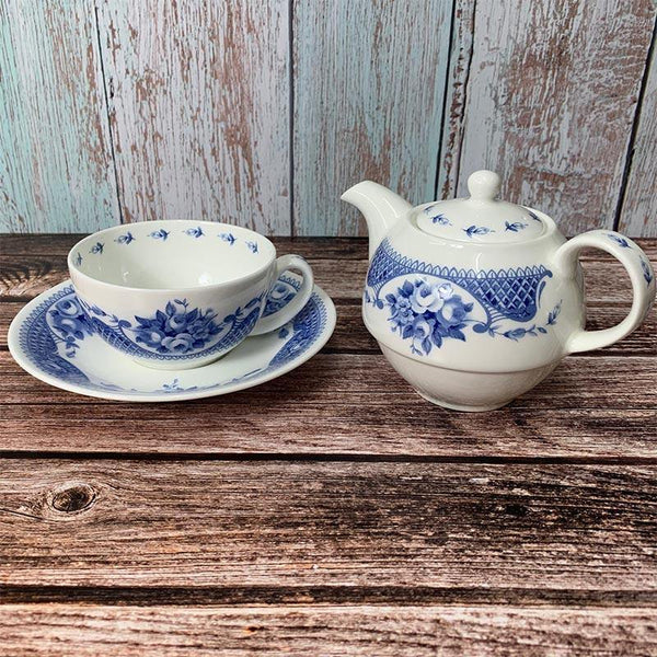 Exclusive Bone China Tea For One Set - Jane Austen Netherfield Collection
