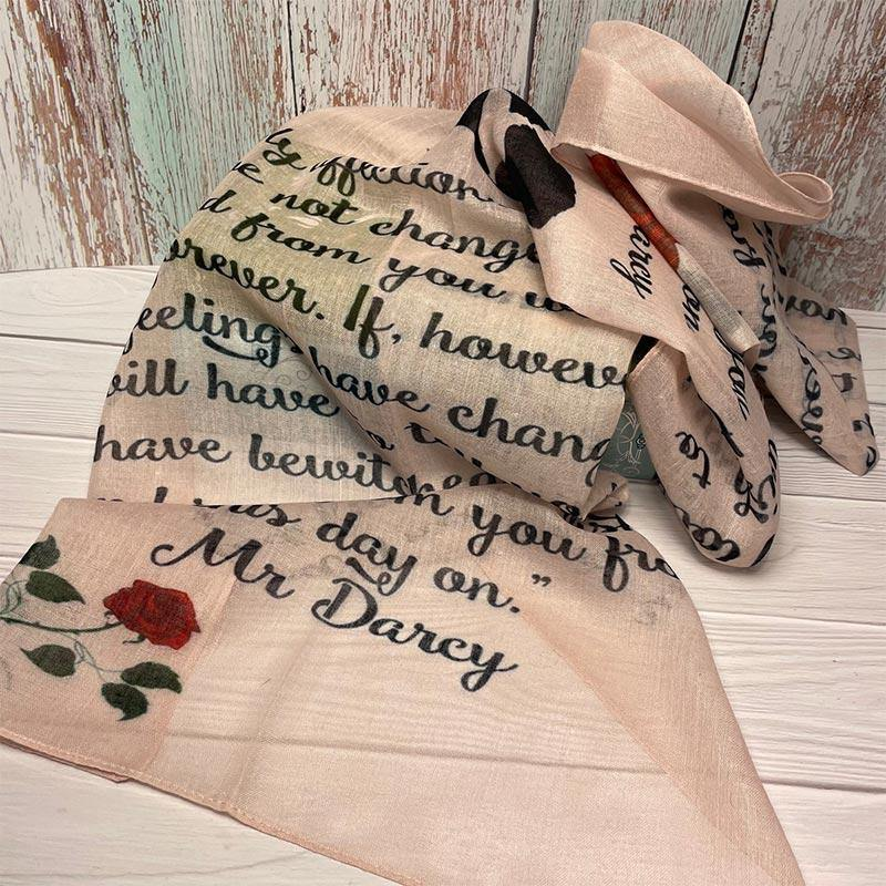 Mr Darcy's Love Letter Voile Scarf