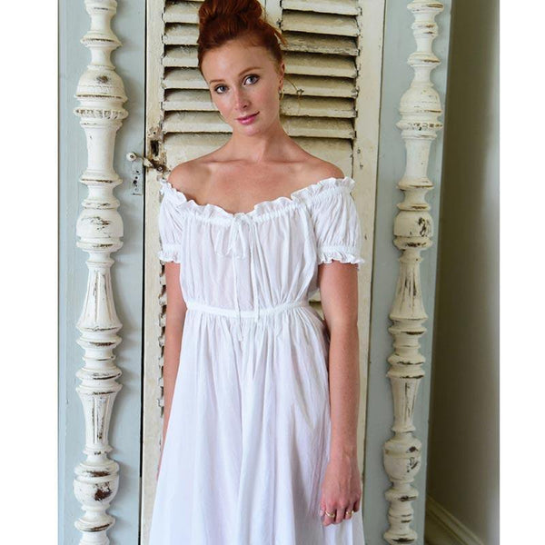 Cotton Regency Nightdress - Kitty