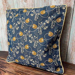 Jane Austen Blue Oak Cushion Cover