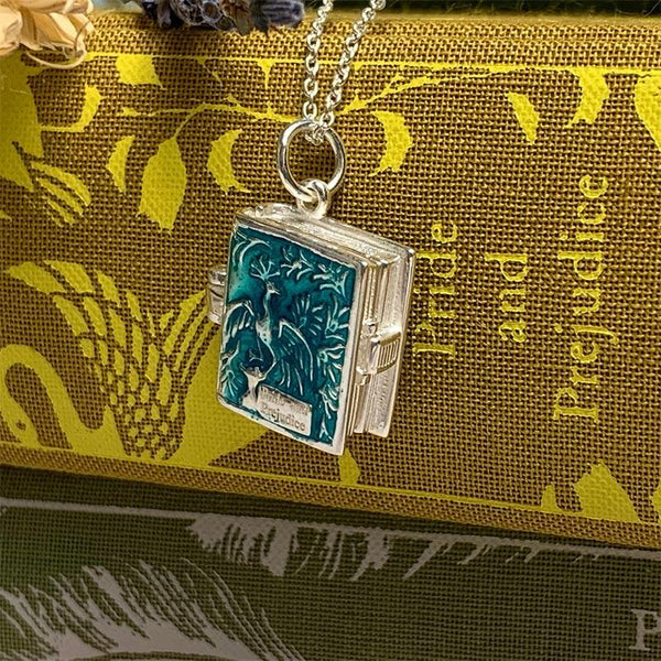 Pride and Prejudice Book Charm Locket Necklace - JaneAusten.co.uk
