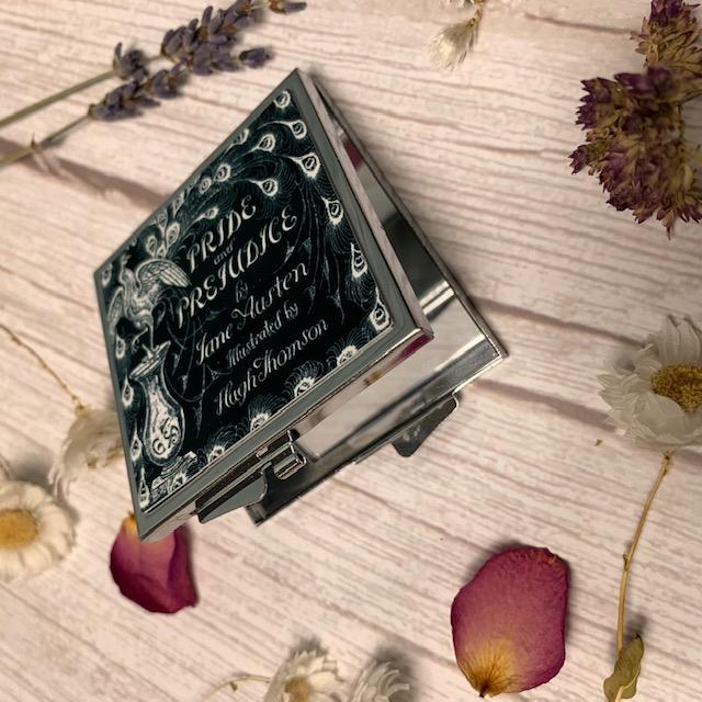 Jane Austen Pride and Prejudice Peacock Compact Mirror - Jane Austen Online