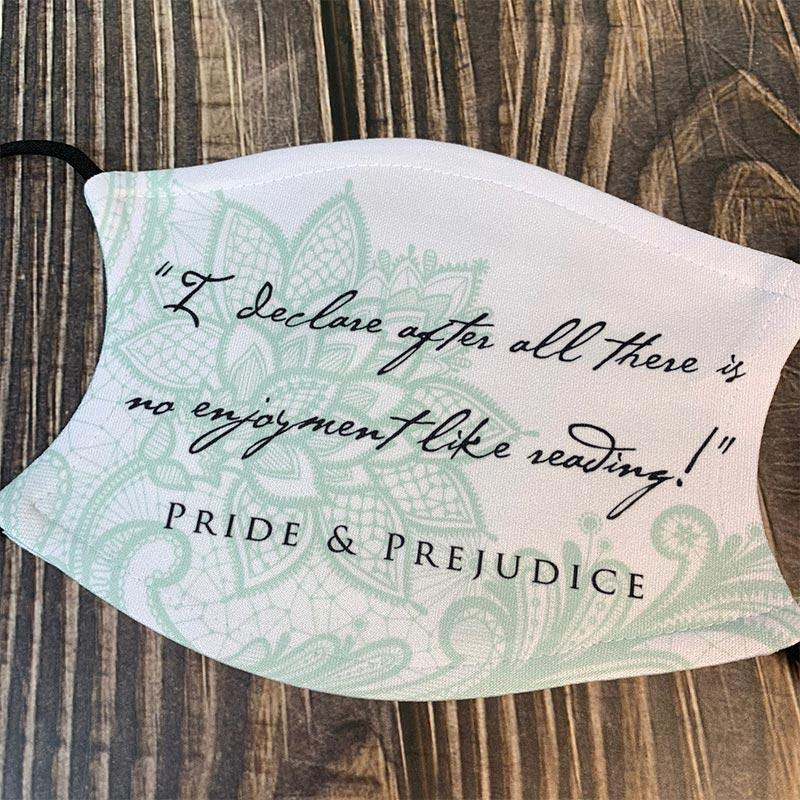Jane Austen's Pride and Prejudice Quote Face Mask - JaneAusten.co.uk