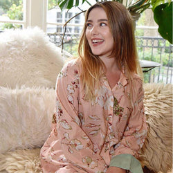 Georgina Ladies Pyjamas - Peach Blossom - Jane Austen Online
