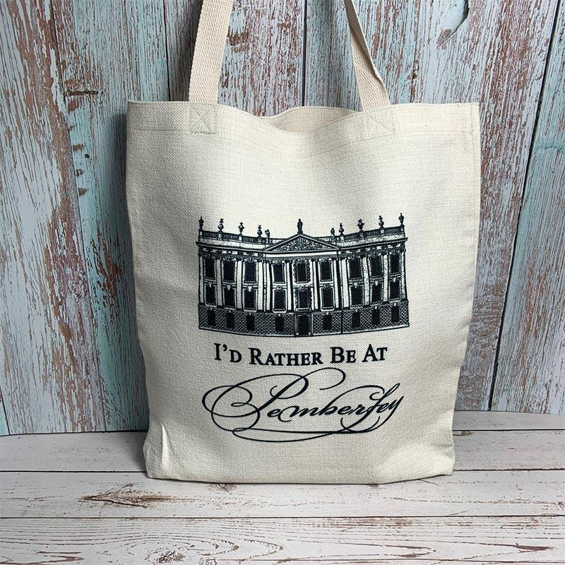 """I'd Rather Be At Pemberley"" Jane Austen Tote Bag"