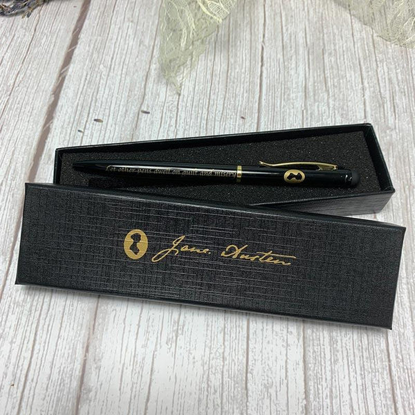 Exclusif Jane Austen Pen - Boxed and Quote Inscribed - JaneAusten.co.uk