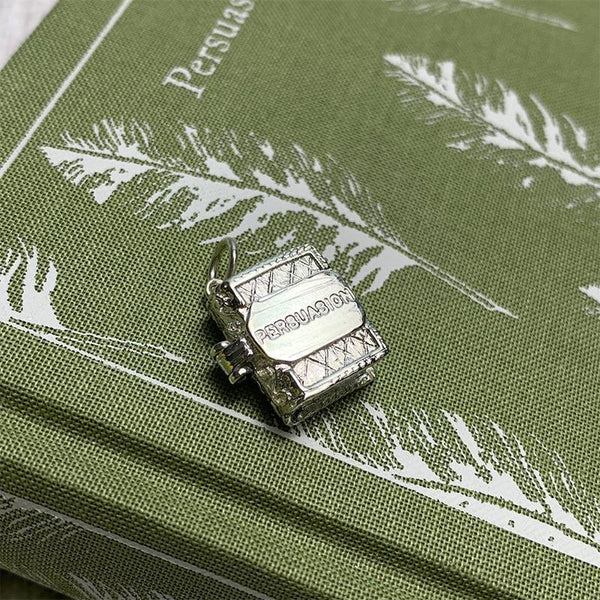 Silver Persuasion Book Charm Pendant - JaneAusten.co.uk