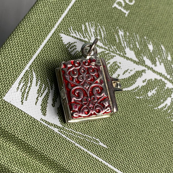 Sterling Silver and Enamel Persuasion Book Charm - JaneAusten.co.uk