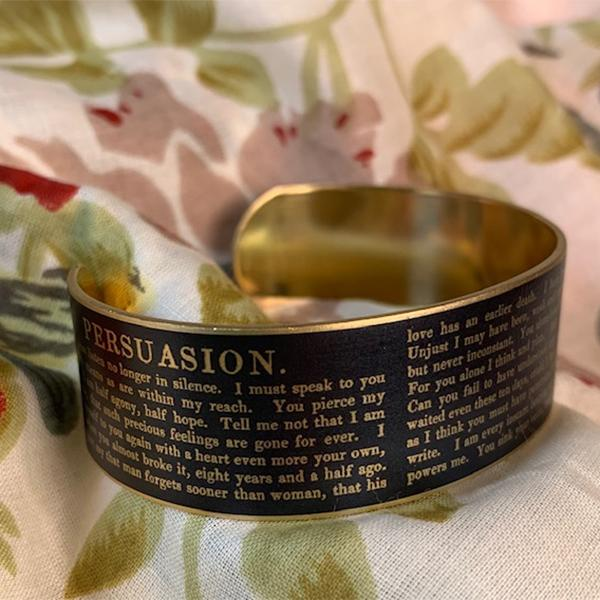 Persuasion Jane Austen Cuff Bracelet - JaneAusten.co.uk